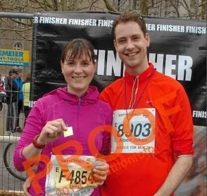 Ulrike Nagel als Marathon-Finisher