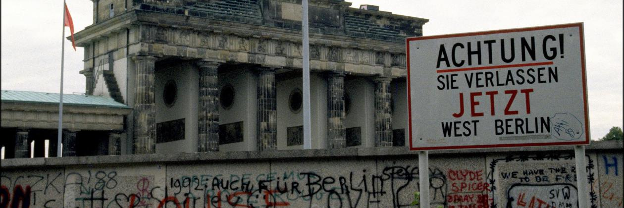 Brandenburger Tor in Berlin 1989